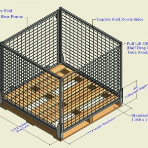 Collapsable Pallet Safe Cage