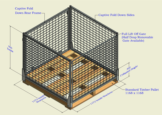 Pallet Safe Cage – Collapsable