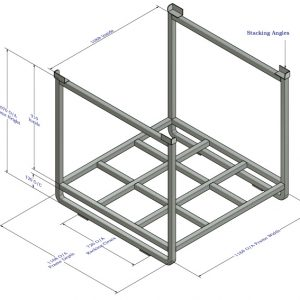Steel Pallet Cages & Stillages 1000 Kgs