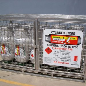 Forklift Gas Storage Cages
